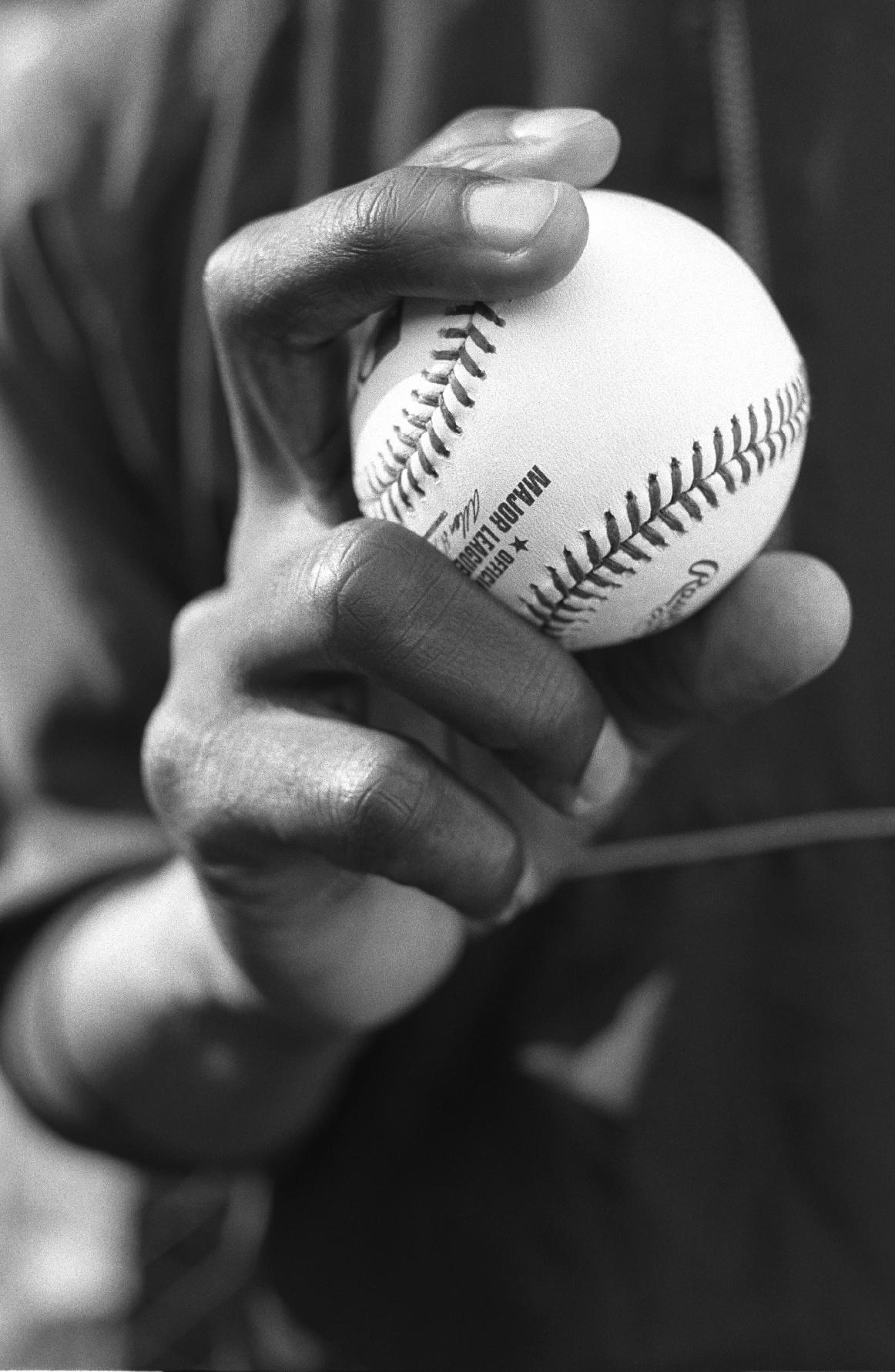 Hand of pitcher Felix Rodriquez
