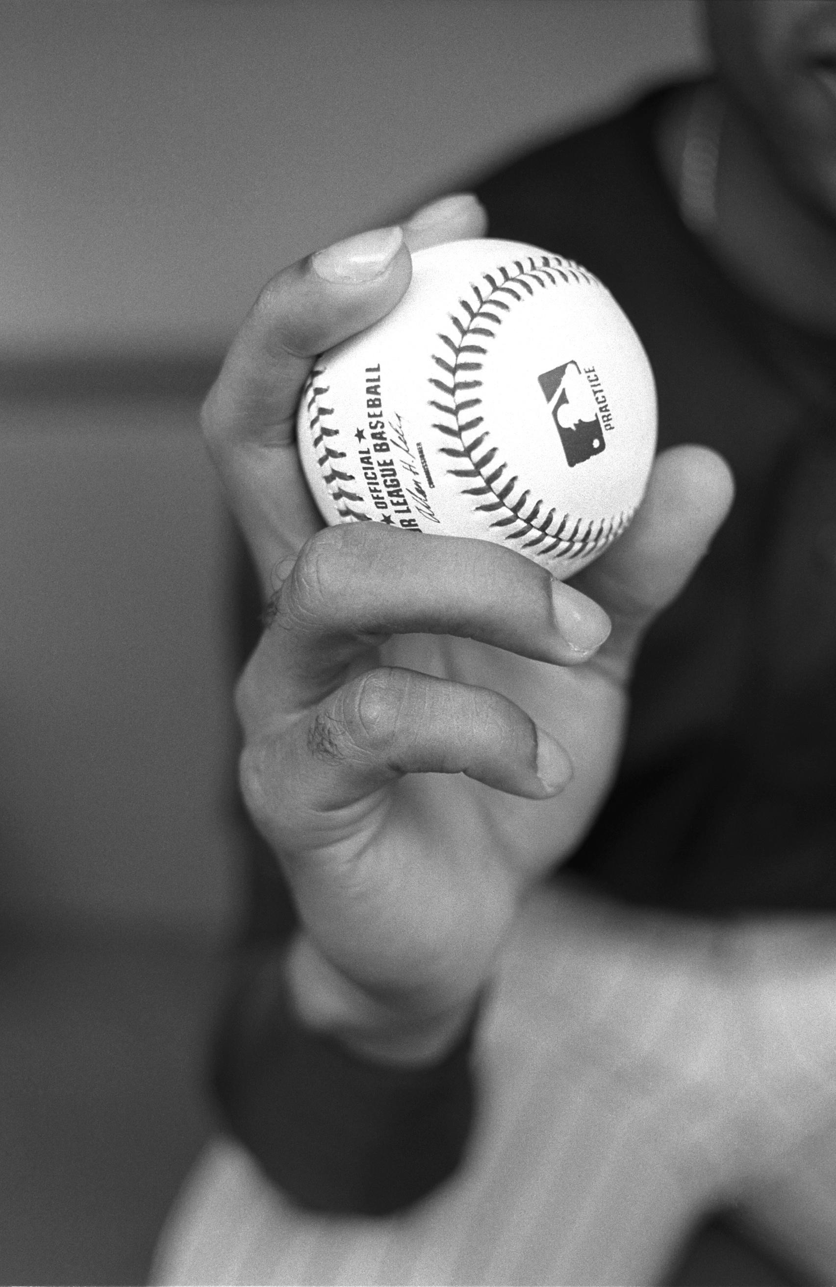 Hand of pitcher, Miguel Batista
