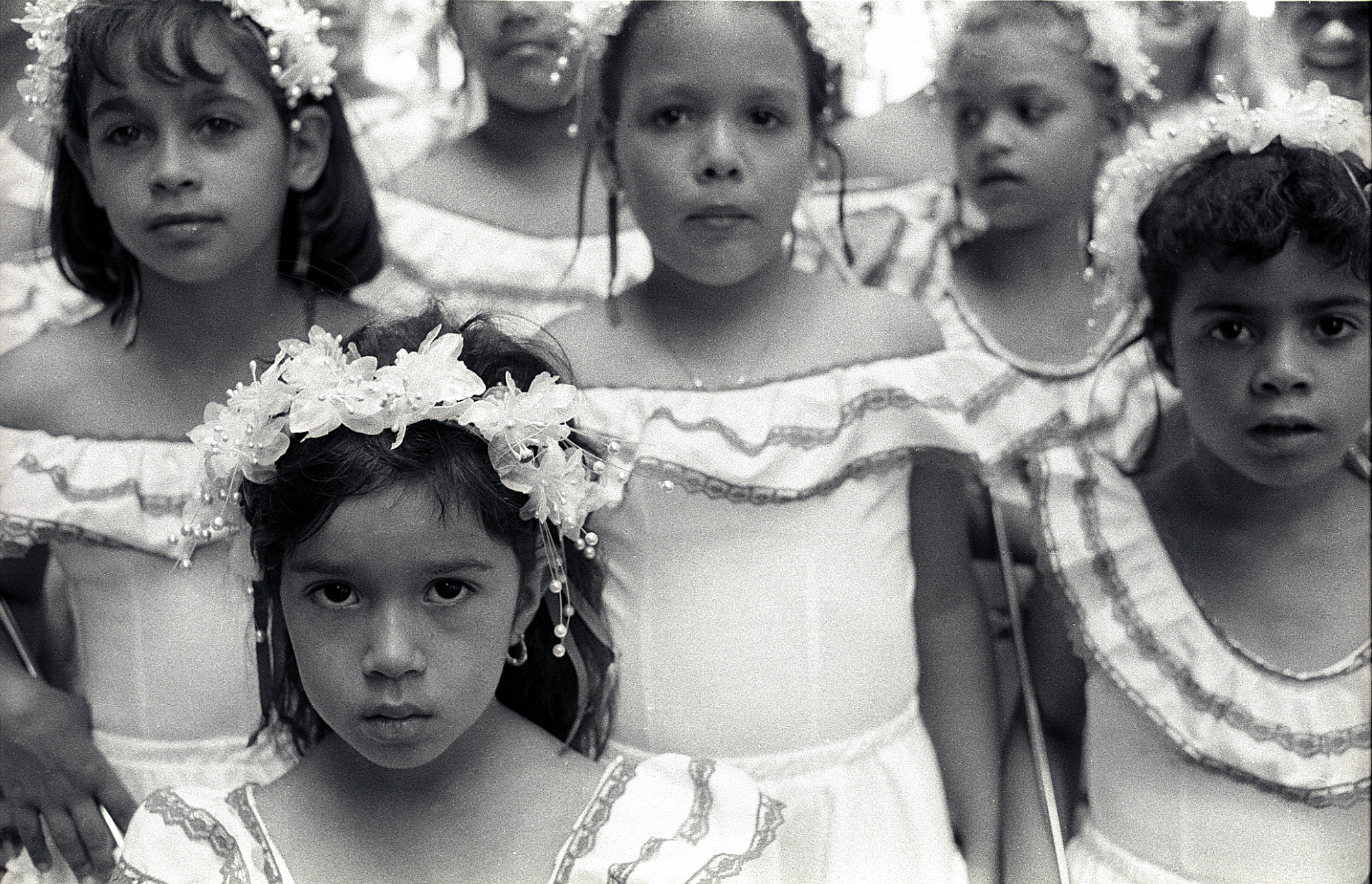 Girls at Puerto Rican Day Parade