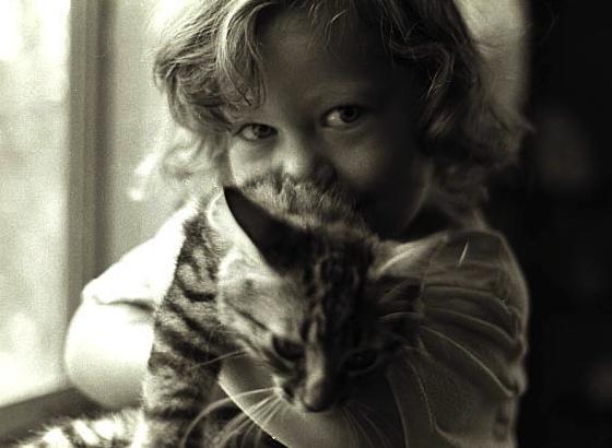 Kelly and kitten