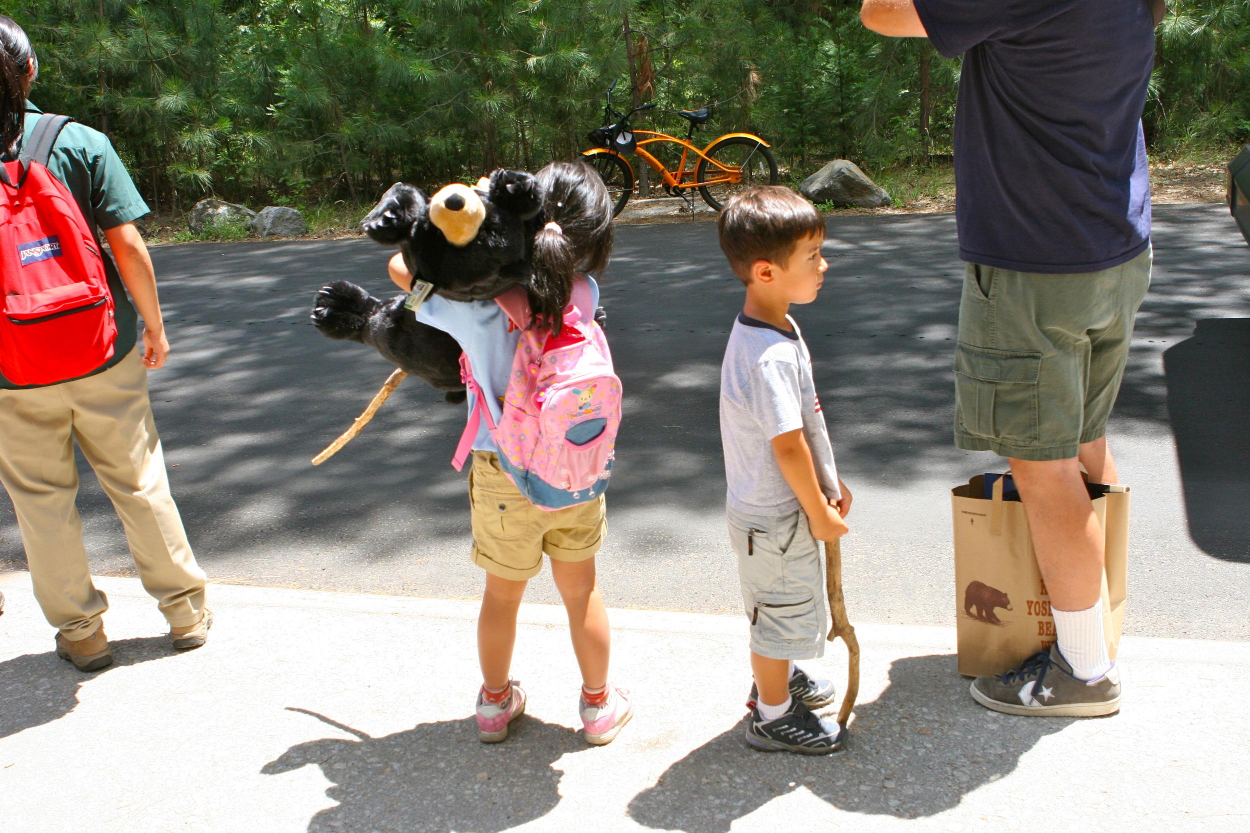 Kids at Yosemite National Park