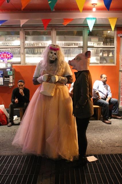 A ghoulish woman and pig. ©2013 Rita Rivera