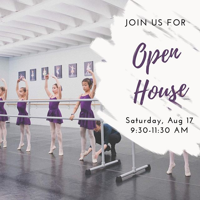 Don't miss Open House this Saturday! This is the perfect time to register for classes, tour the studio, pick up your uniform, and get fitted for new shoes! #simpsonvillesc #simpsonville #ballet #yeahthatgreenville #boysdoballet