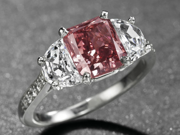 Image: Christie's. A world record price for a red diamond! This 1.92 carat, Fancy red diamond ring sold for over $3.2 million at the Christie's auction, May 2013.