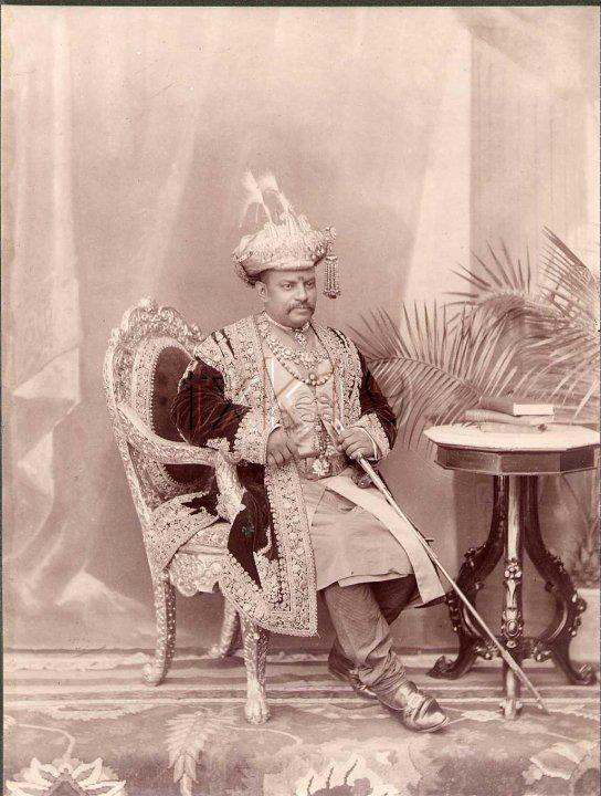 The Maharaja of Darbhanga. Royal India.