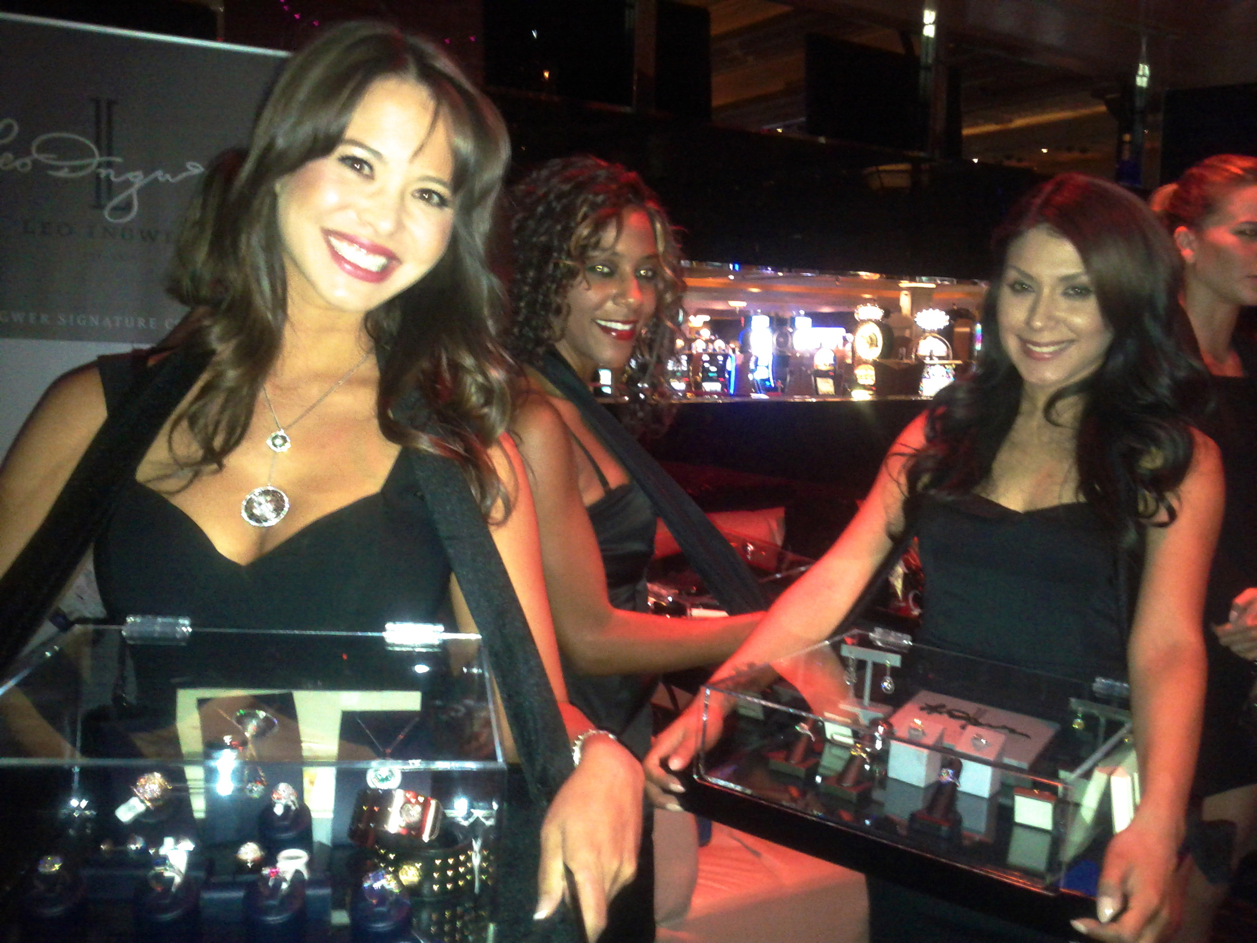Must be Vegas! Royal Asscher cocktail event, Vegas-style at Eye Candy Lounge at Mandalay Bay in Las Vegas.