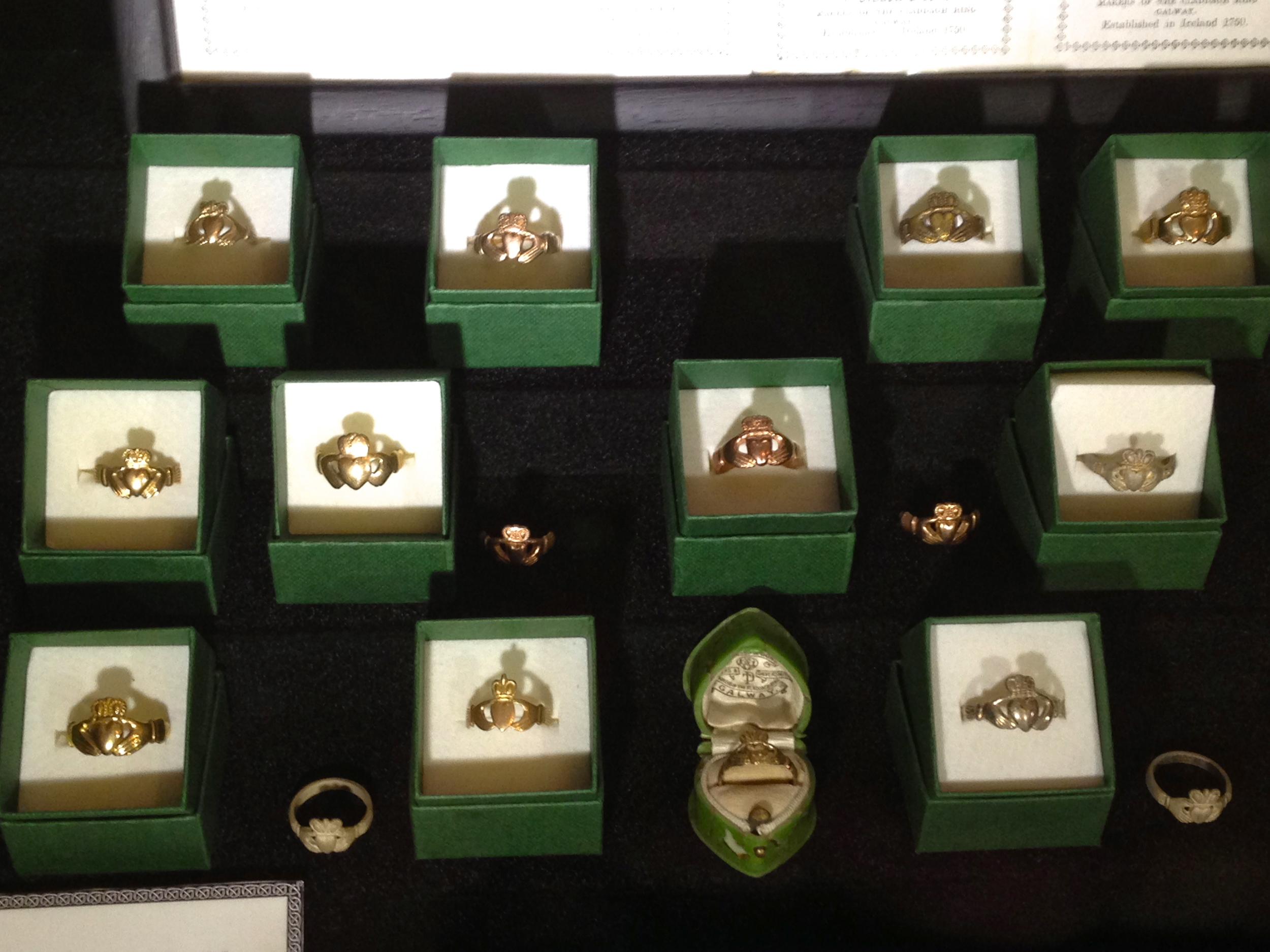 Amazing to see these rings! Oldest known Claddagh rings in Ireland at Thomas Dillon Jewellers. Galway, Ireland.