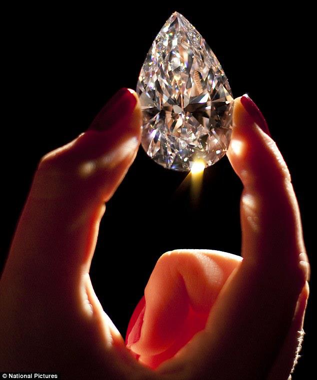 "World's largest ""flawless"" D-color, colorless diamond at 101.73 carat. The stone was recently cut from a rough diamond, weighing 236 carats, that had been found at the Jwaneng mine in Botswana. It took 21 months to polish. The diamond is a Type IIa, less than 1% of the world's diamonds are Type IIa."
