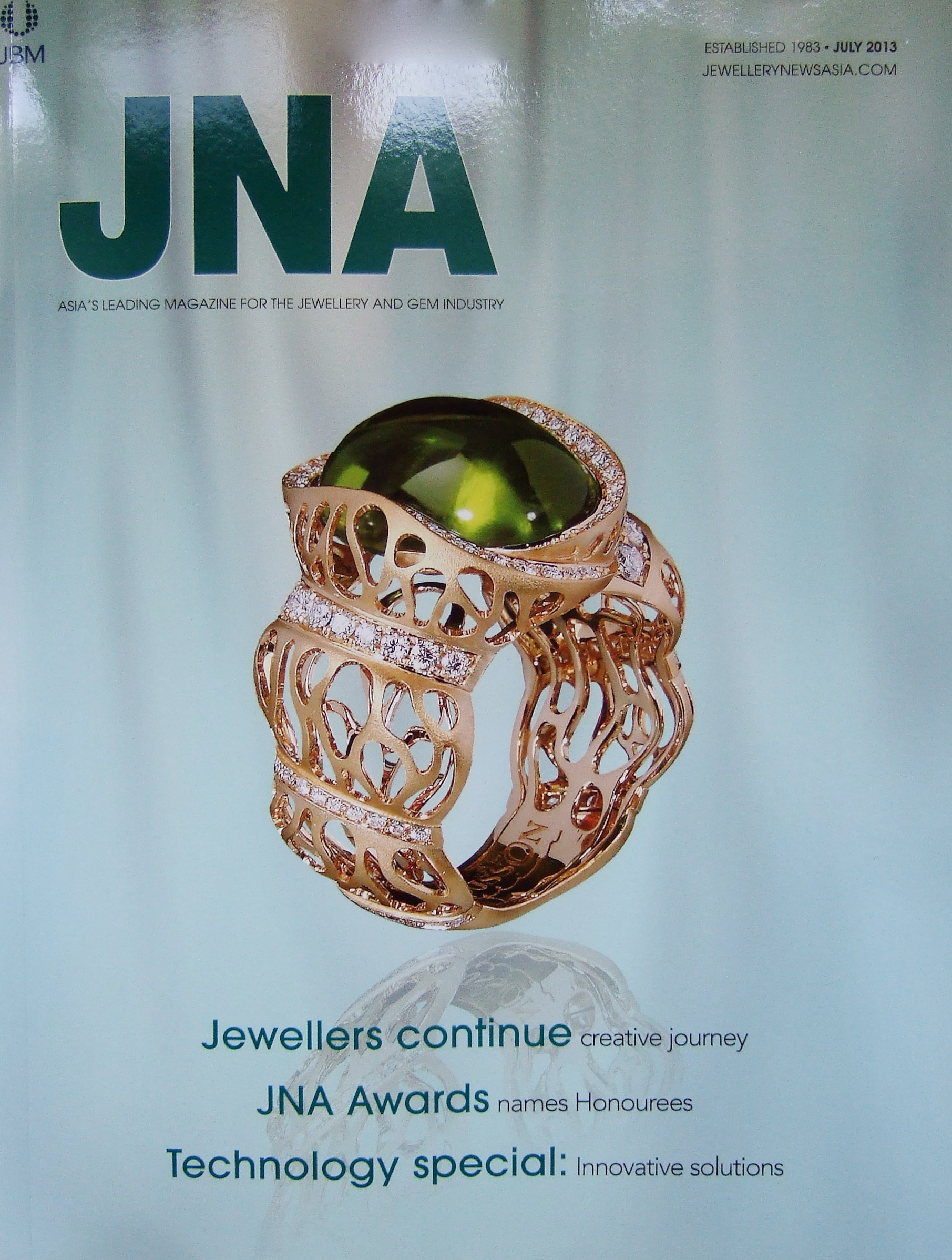 Cover - Jewellery News Asia, July 2013 Issue 347