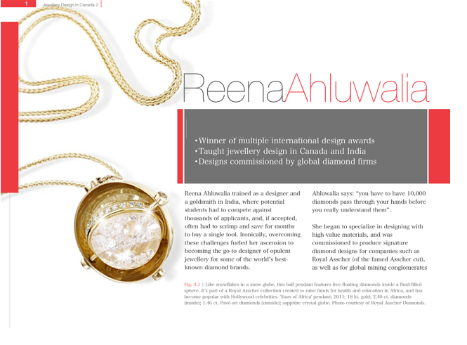 Designer Reena Ahluwalia. Excerpt from Masters of Jewellery Design in Canada. Vol. 2.