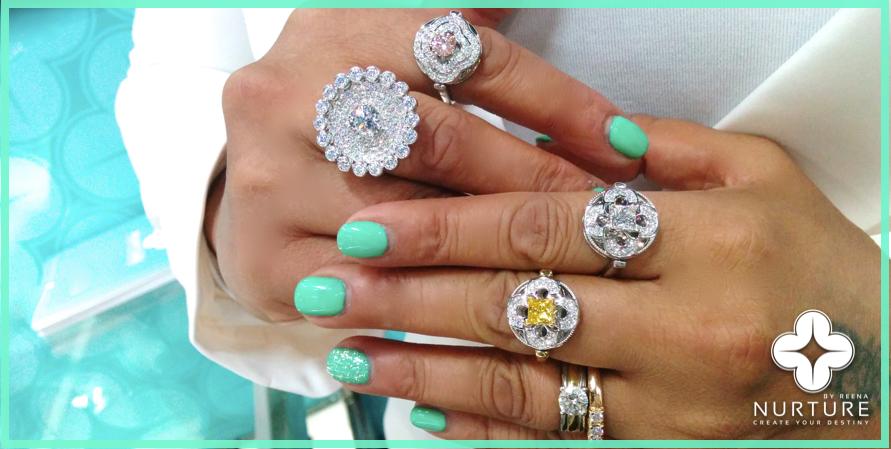 NurtureByReena_Rings_Pink_yellow_colorless_Lab Grown Diamonds_Designer Reena Ahluwalia