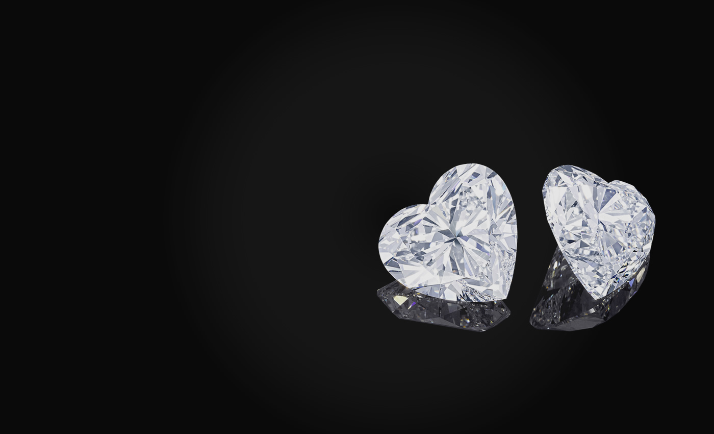 Two perfectly matched D Flawless heart-shaped diamonds exceeding 50 carats each, cut from the two diamonds sourced from the famous Letseng diamond mine. 2011. Image: Graff Diamonds