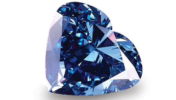 The Heart of Eternity is a 27.64 carat, fancy vivid blue diamond. It was found in the South African Premier Diamond Mine.