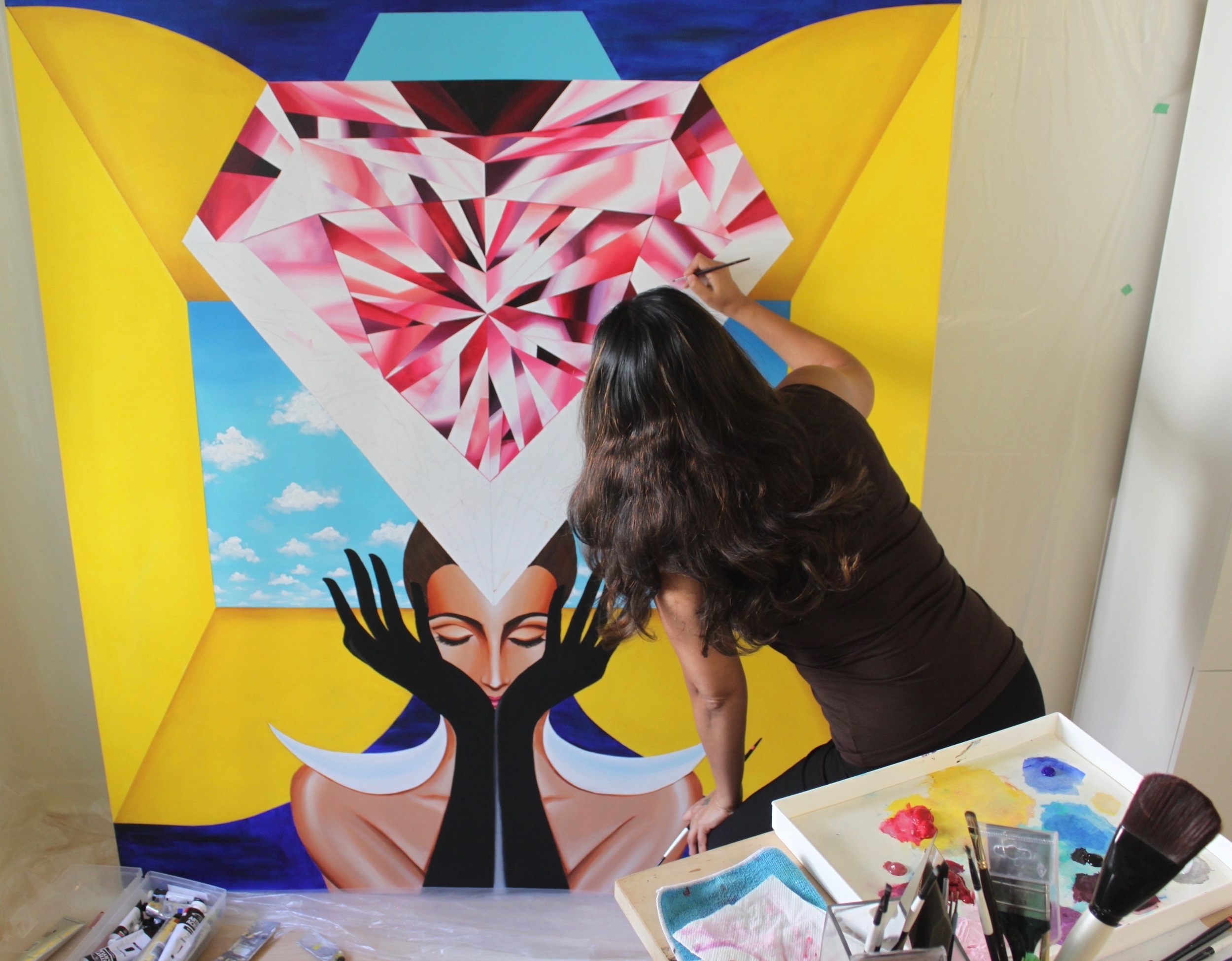 Reena Ahluwalia painting_Process_Making of