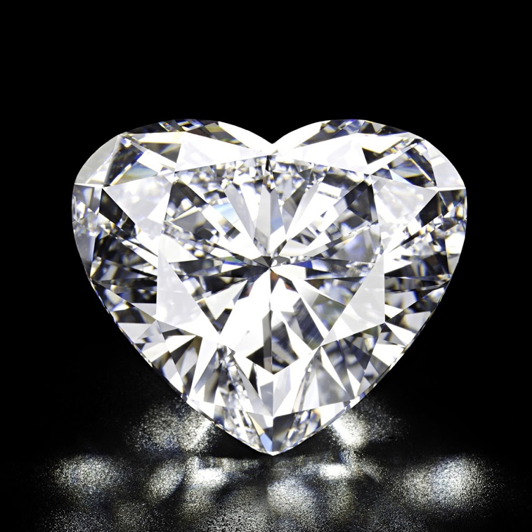D-colour, internally flawless, Type IIa diamond of 56.15 cts. In 2011, sold at auction, and becoming a world auction record for any heart-shaped diamond. Image: Christie's