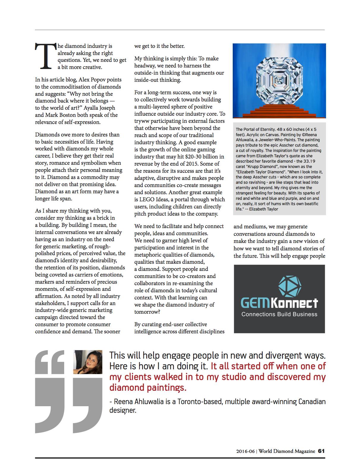 World Diamond Mark_Reena Ahluwalia Interview_Page2