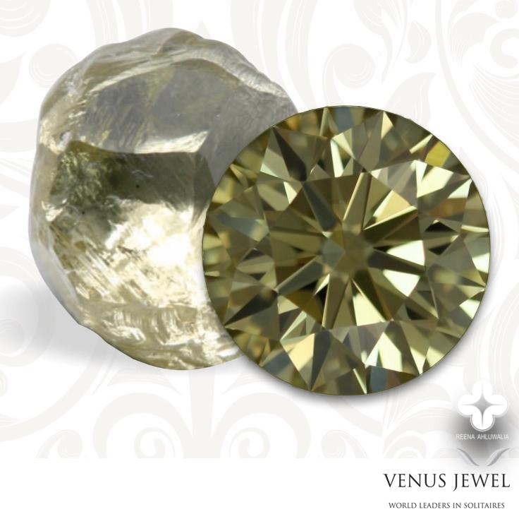 Rough_Polished Greenish yellow diamond _Venus Jewels and designer Reena Ahluwalia_Ekati Mine.jpg