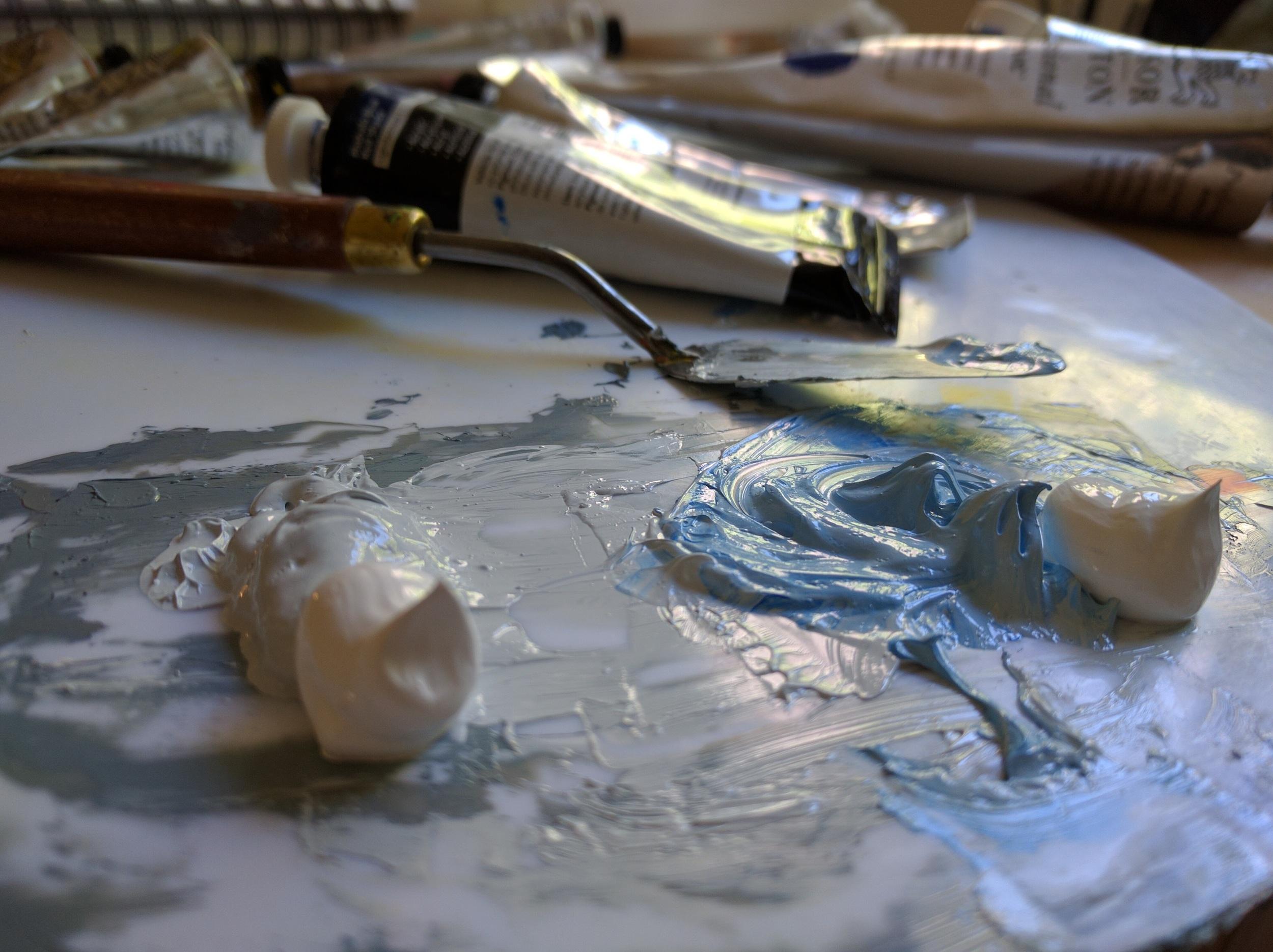 So meditative! Preparing palette for my 'Pure Heart' diamond painting. ©Reena Ahluwalia