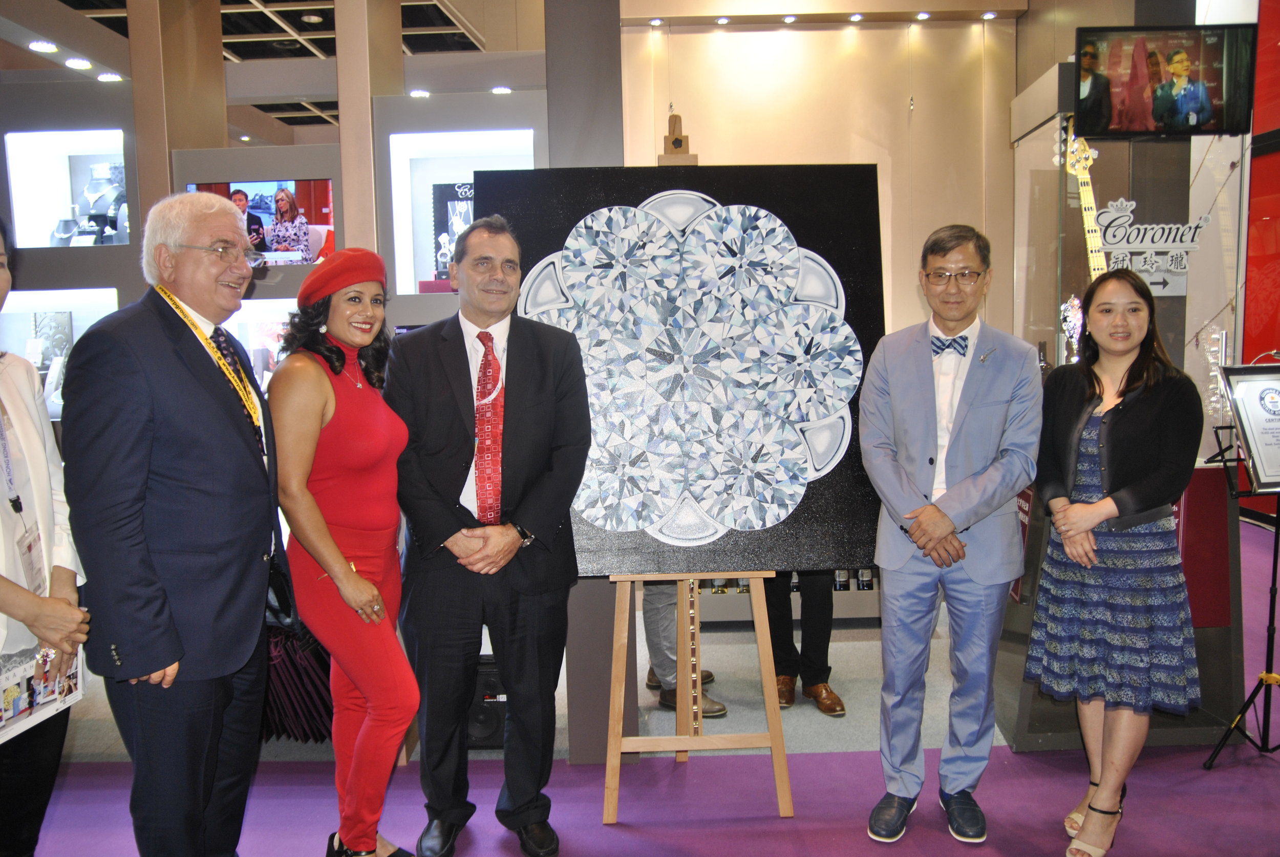 The Coronet Diamond painting was unveiled at the September Hong Kong Jewellery & Gem Fair 2016.