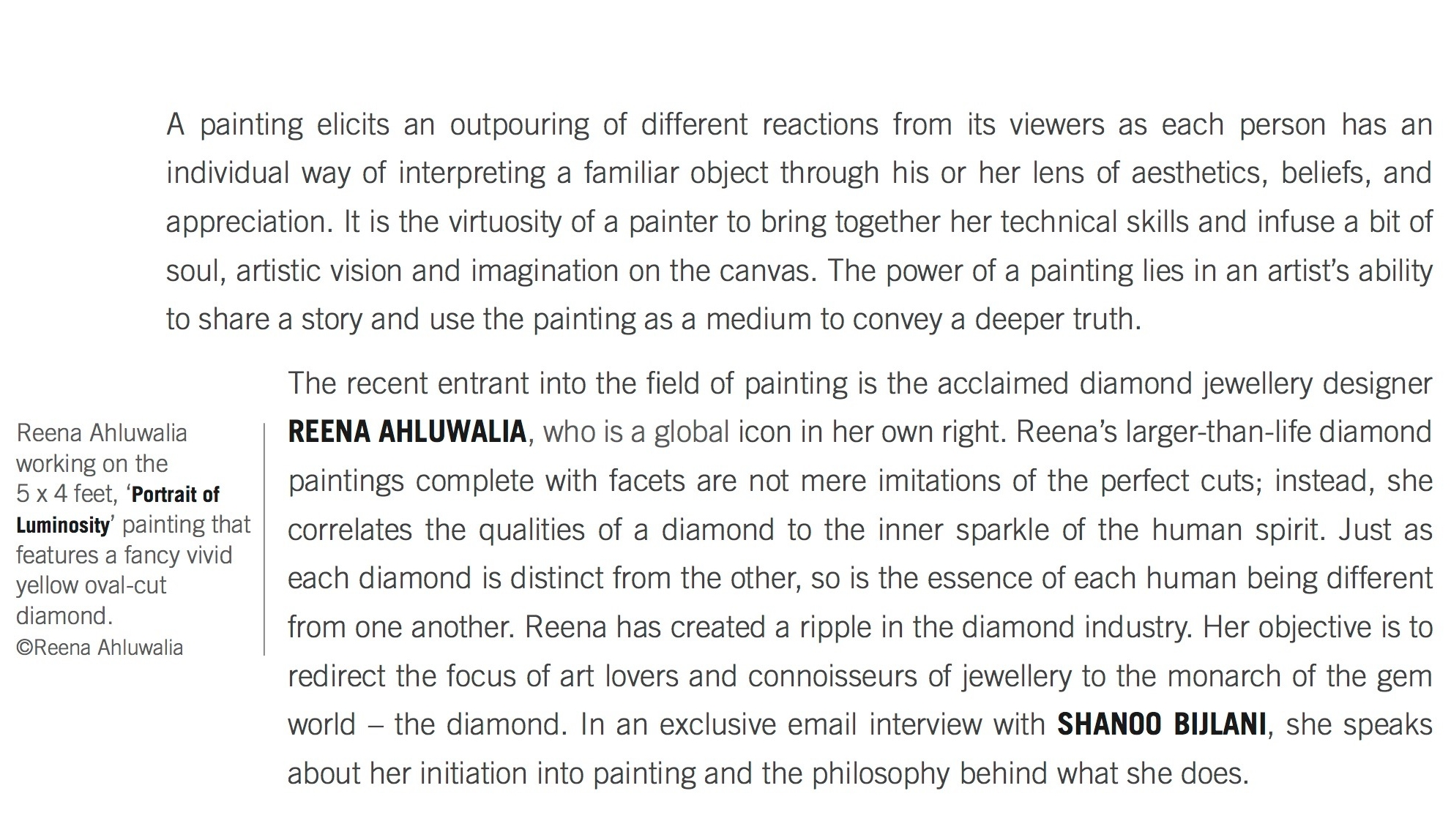 Reena Ahluwalia interview_1_Adorn Magazine_Diamond Paitning