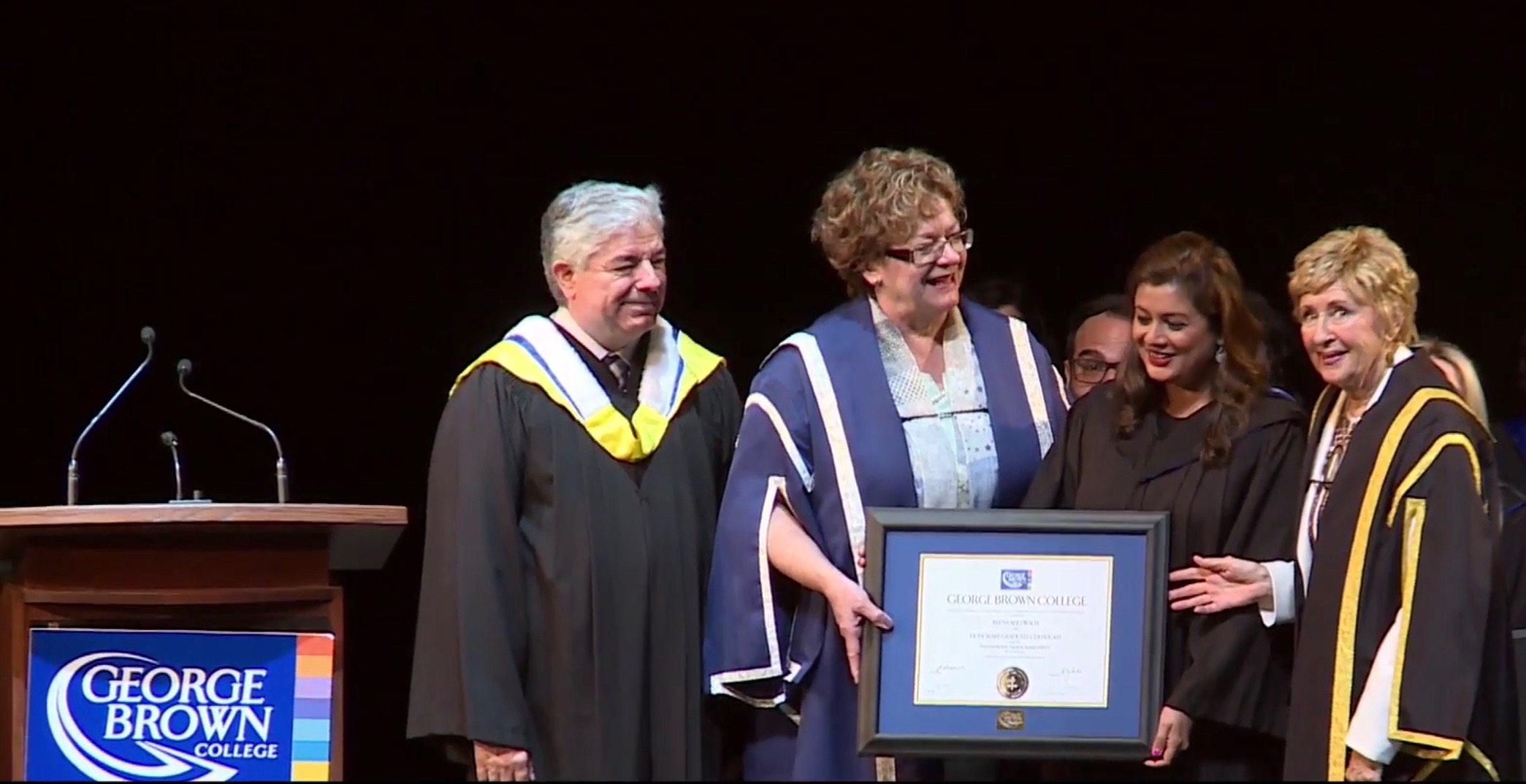 Reena Ahluwalia Recieving Fellow Award_Honarary Degree_George Brown College 1.jpg