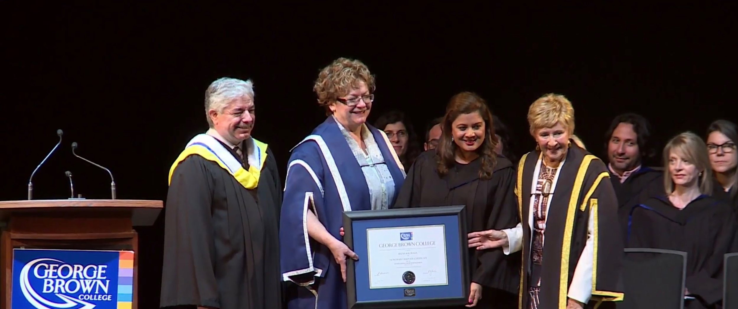 Reena Ahluwalia Recieving Fellow Award_Honarary Degree_George Brown College 2.jpg