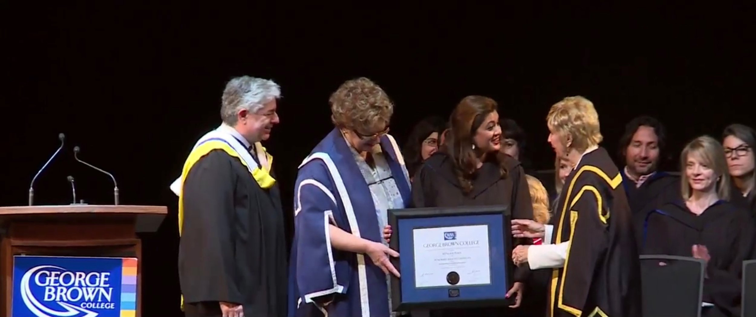 Reena Ahluwalia Recieving Fellow Award_Honarary Degree_George Brown College 3.jpg