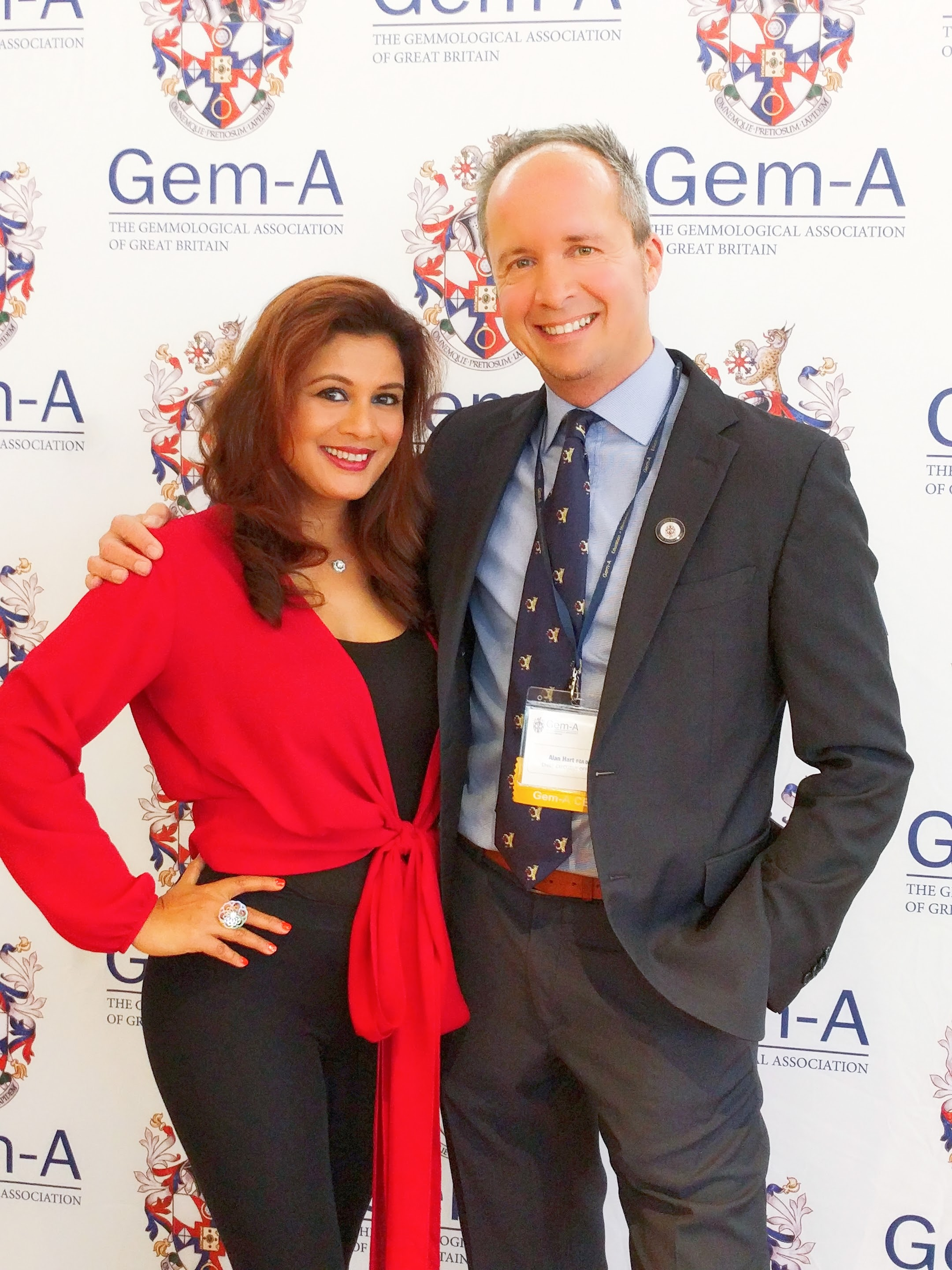 Reena Ahluwalia with Gem-A CEO, Alan Hart.