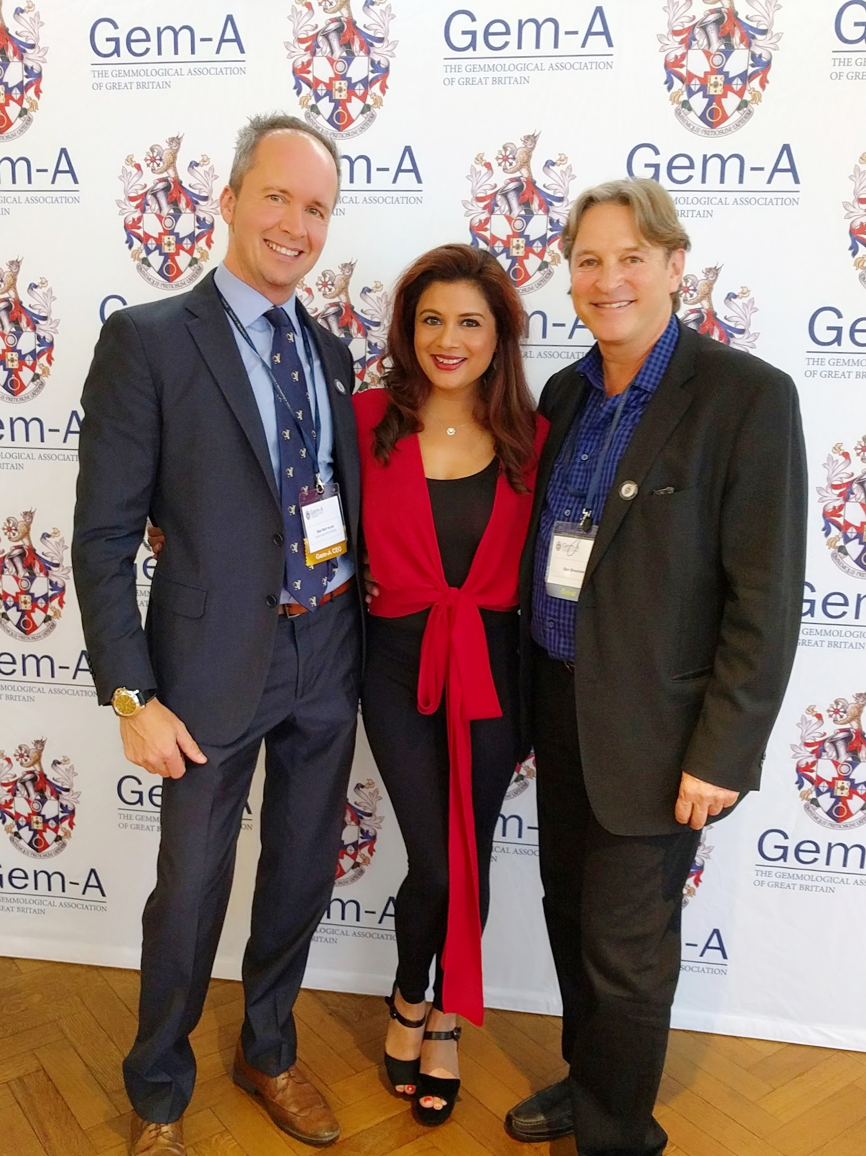 Gem-A CEO, Alan Hart with Reena Ahluwalia and Alan Bronstein. Image: Henry Mesa, Gem-A