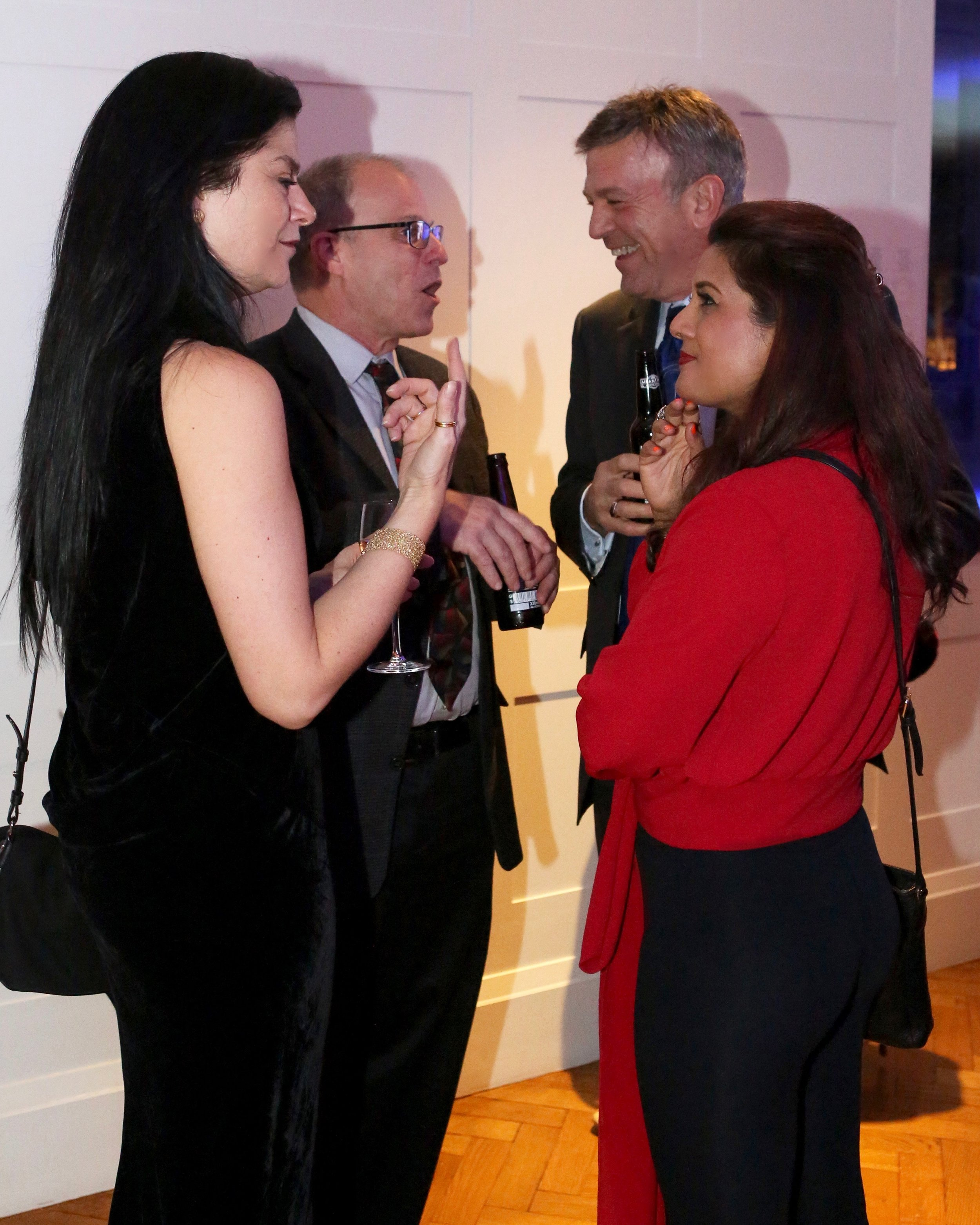 Chandra Horn, Reena Ahluwalia, John Bradshaw, Richard Drucker at the Gem-A Conference. Image: Henry Mesa, Gem-A