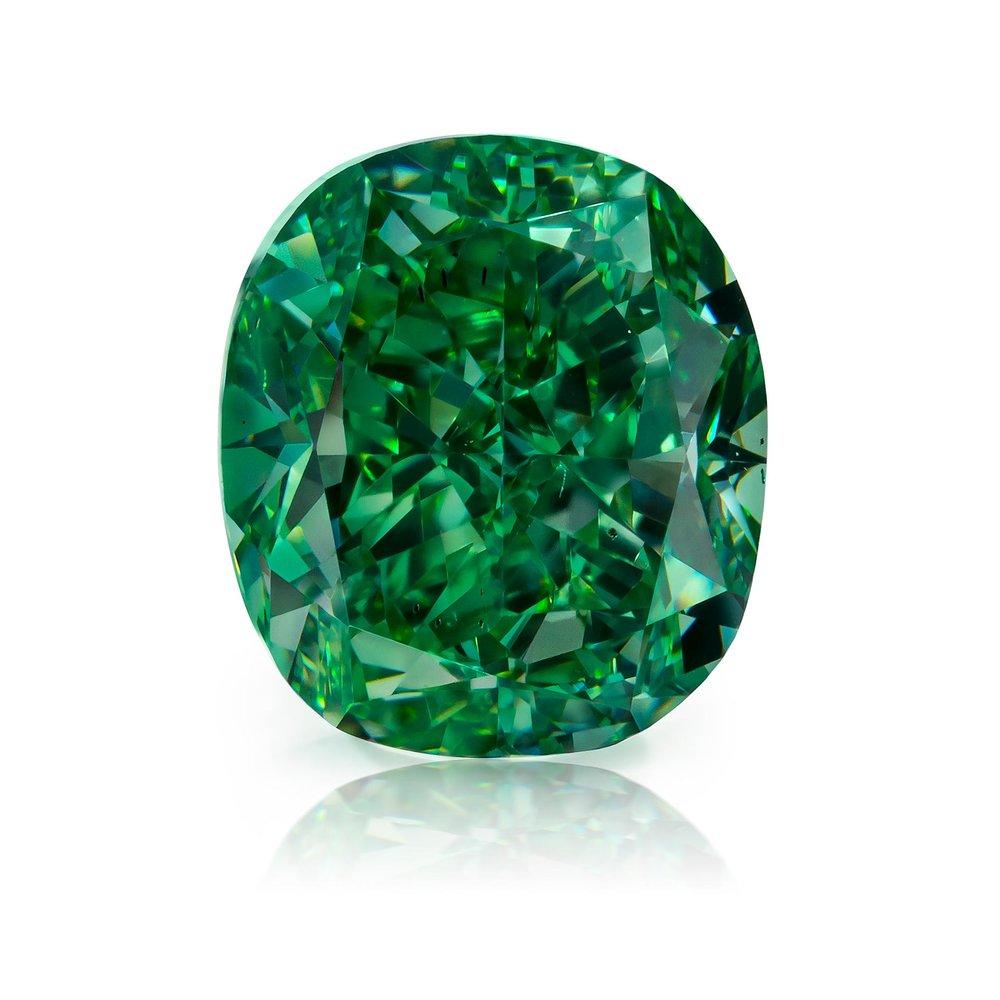 "1.51 Fancy Vivid Green. From Optimum Diamonds LLC's's rare natural fancy color green diamonds ""Gamma"" collection. Image credit:    Optimum Diamonds LLC   , Copyright ©Digital Jewelry Photography"