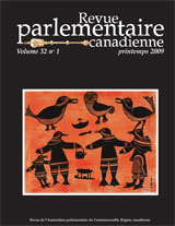Canadian Parliamentary Review, Volume 32