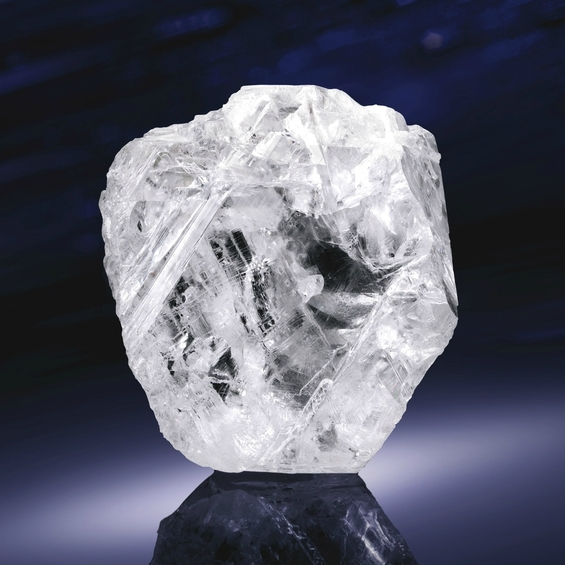 "The 1111-carat diamond was named Lesedi La Rona which means ""Our Light"" in the Tswana language. Image: Lucara Diamonds"