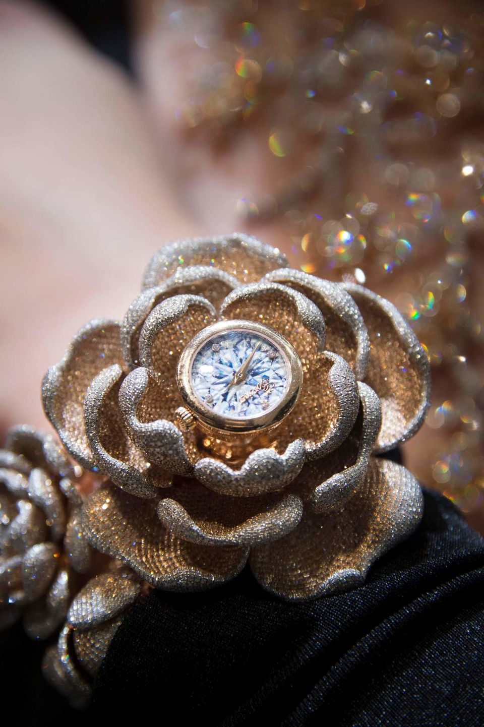 The Guinness World Records CORONET 'Mudan' diamond watch features 15,858 diamonds - most diamonds set in a watch. Image: AFP