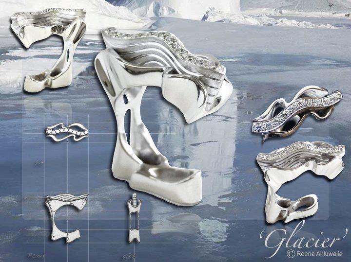 'Glacier' ring by Reena Ahluwalia for Mayur Davé (Gems) Inc. Canadian diamonds set in 18K white gold.