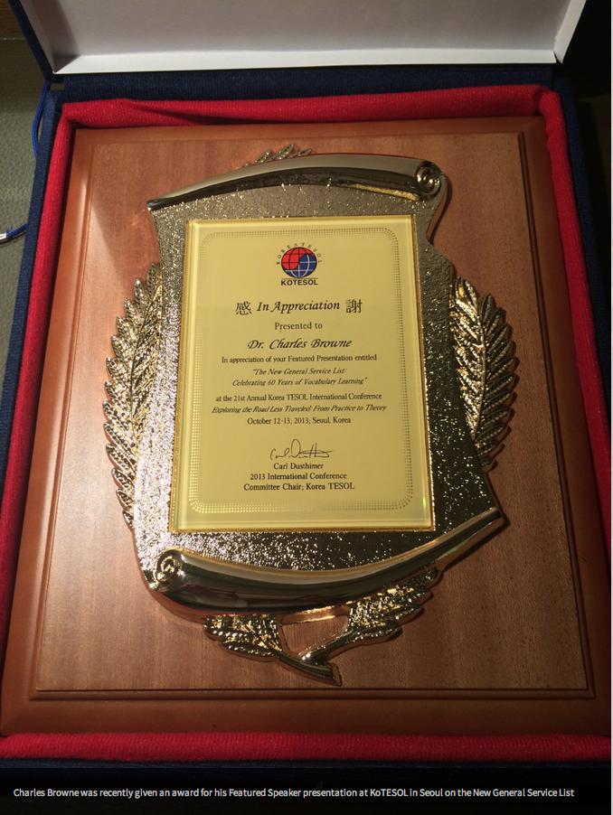 NGSL Award