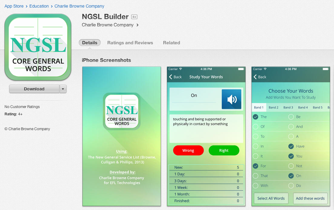 NGSL Builder ScreenShot
