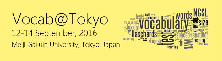 Vocab@Tokyo Conference