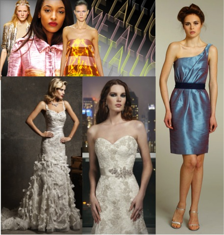 How fashion trends translate to Bridal Attire #metallics – via Ellie's Bridal Blog