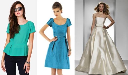 How fashion trends translate to Bridal Attire #pleats #pleated waist skirt – via Ellie's Bridal Blog