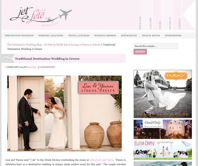 Traditional Destination Wedding in Greece
