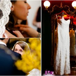 Devon's scalloped lace veil was the perfect match & compliement to her gown.