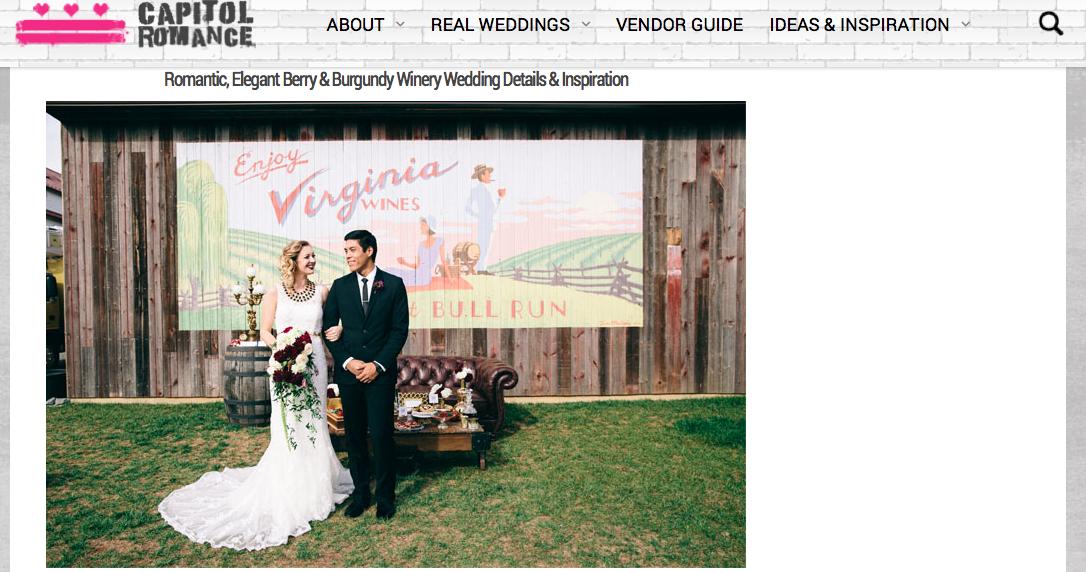 Capitol Romance: Winery Wedding