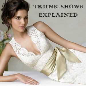 What is a Trunk Show? And why go to one? - via Ellie's Bridal Blog