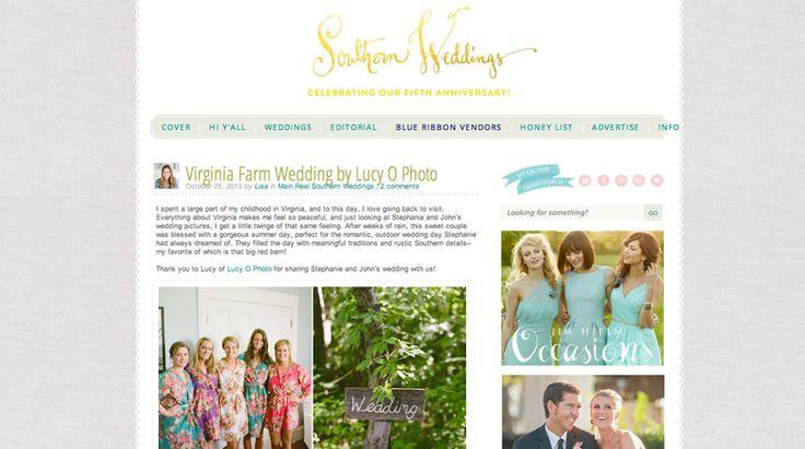 Stephanie + John featured on Southern Weddings