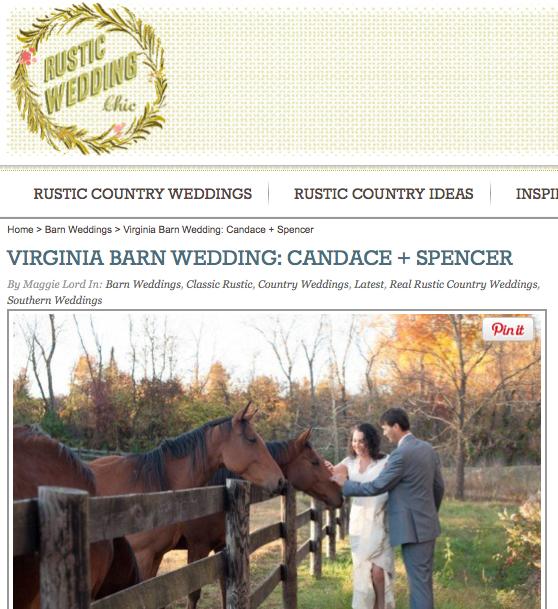 Virginia Barn Wedding: Candace + Spencer