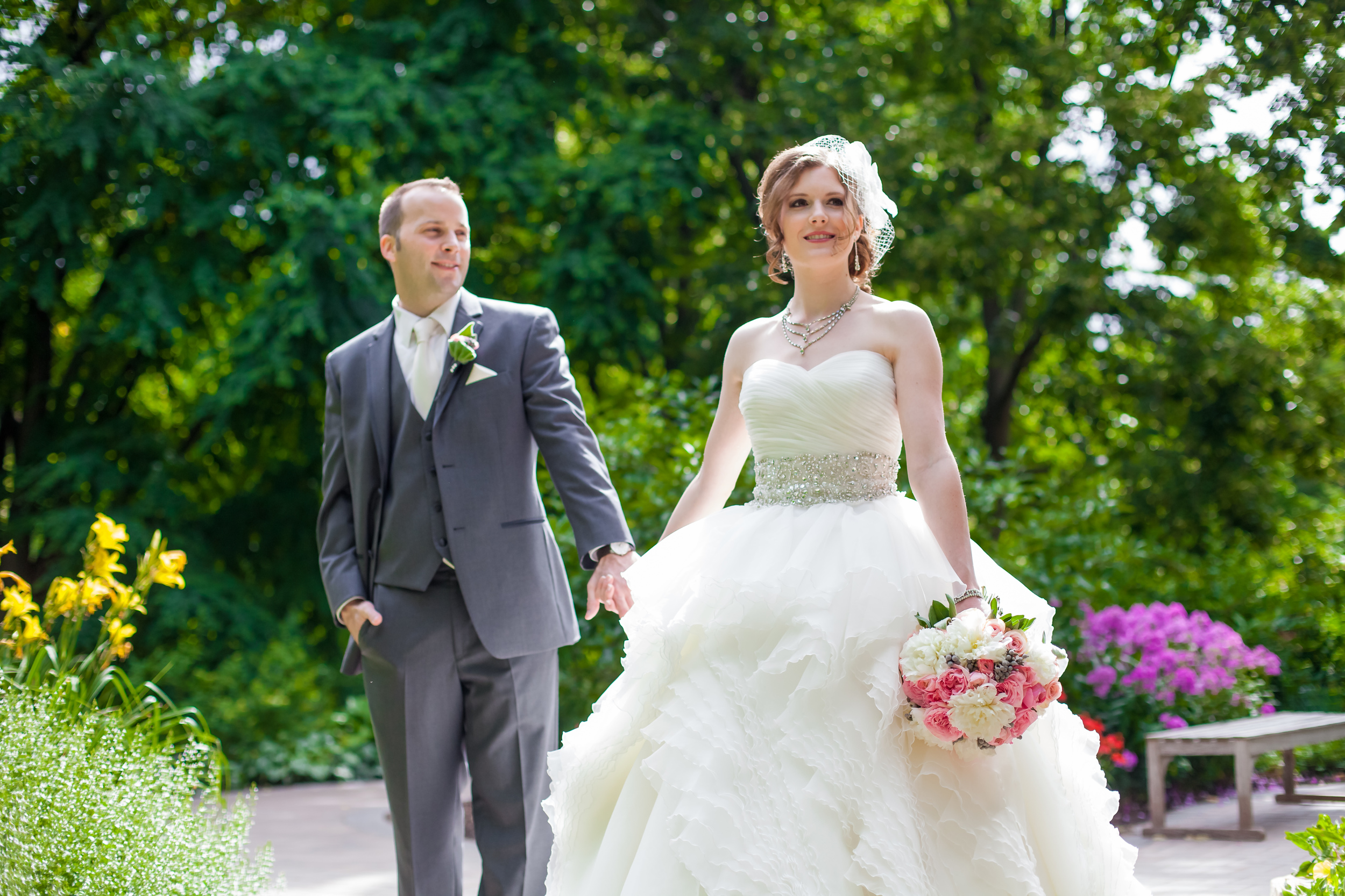 April + David – Justin Alexander gown from Ellie's Bridal Boutique
