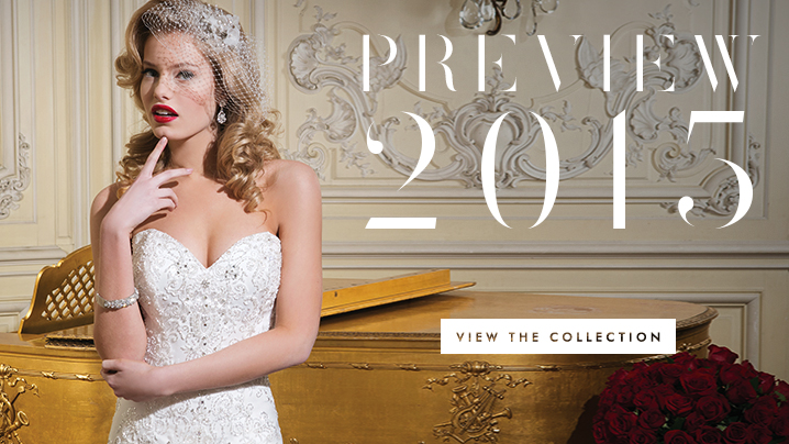 Justin Alexander Preview 2015 Trunk Show – View the collection September 12-14 at Ellie's Bridal Boutique (Alexandria, VA)