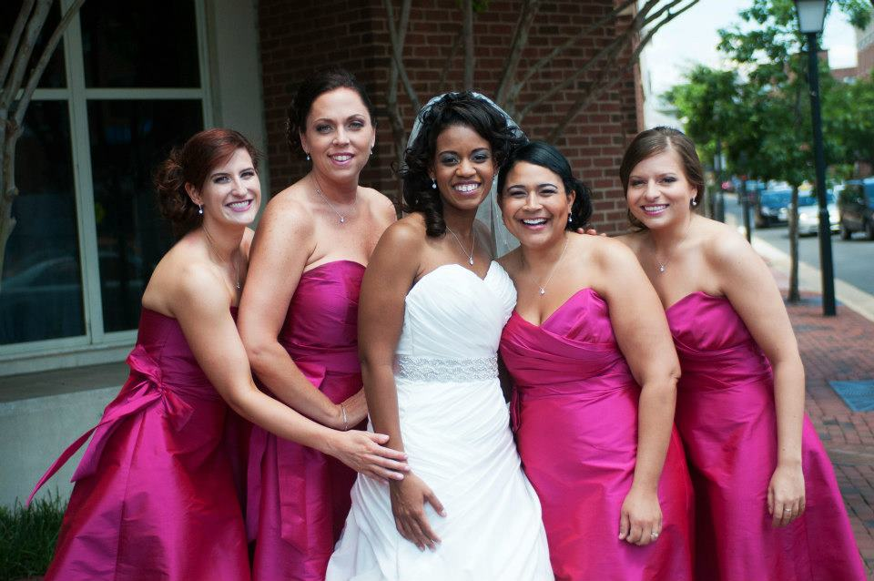 Janelle + Kini on June 2, 2012 ♥ Bridal gown & Bridesmaids from Ellie's Bridal Boutique