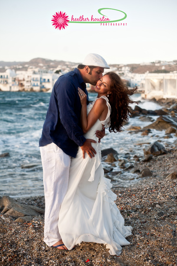Lisa + Yianni on September 7, 2012 ♥ Heather Houston Photography in Mykonos, Greece.